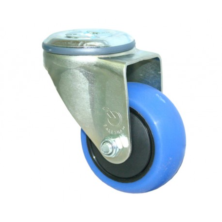 Fallshaw CBQ Series Blue Rubber Castor Bolt Hole 100mm 100kg CBQ100G/MZH