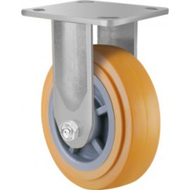 Heavy Duty Urethane Castor Fixed 100mm 200kg TE41UPB100R