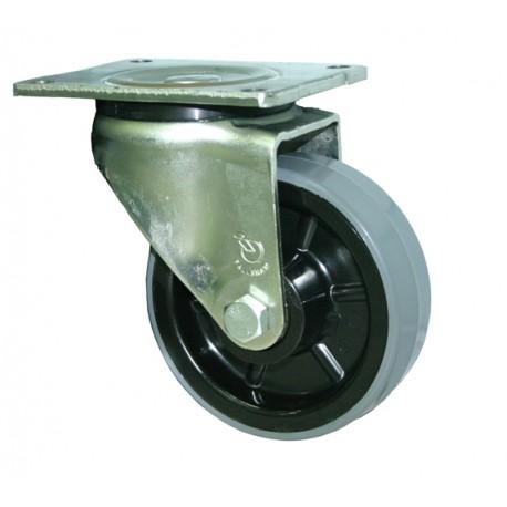 Fallshaw HUR Series Grey Urethane Castor Swivel 125mm 300kg HUR125/OZP
