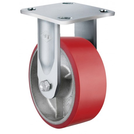 Heavy Duty Castor Urethane Fixed 100mm 250kg TE71UOC100R