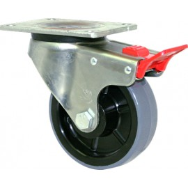 Fallshaw HUR Series Grey Urethane Castor Swivel 125mm 300kg HUR125/OZPTB