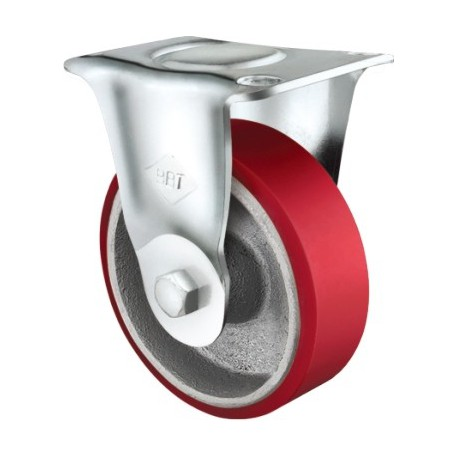 Heavy Duty Castor Urethane Fixed 75mm 110kg TE60UOC075R