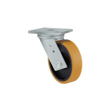 Super Heavy Duty Castor Swivel Urethane 160mm 600kg TE51UIB160S