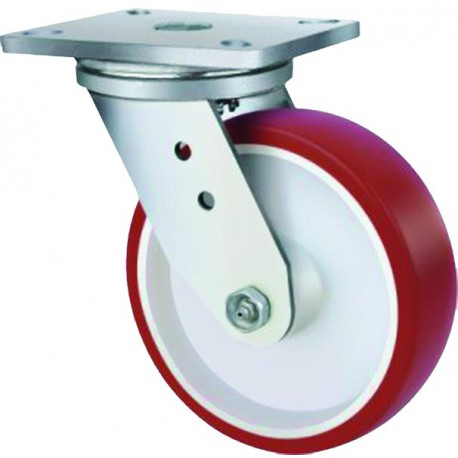 Super Heavy Duty Castor Urethane Swivel 160mm 400kg TE51UNB160S