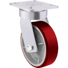 Ultra Heavy Duty Kingpinless Urethane Castor Swivel 300mm 1500kg TE71UXB300S