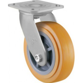 Heavy Duty Castor Urethane Swivel 125mm 250kg TE41UPB125S