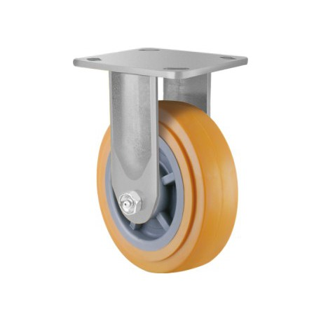 Heavy Duty Castor Urethane Fixed 125mm 250kg TE41UPB125R