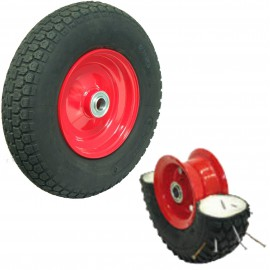 Puncture Proof Semi Pneumatic Wheels 400mm 120kg P400X8KNO
