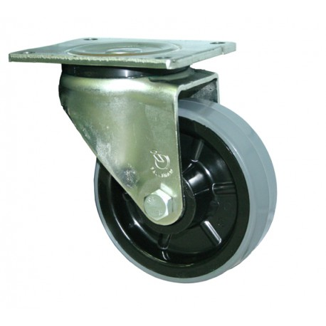 Fallshaw HUR Series Grey Urethane Castor Swivel 200mm 500kg HUR200/OZP