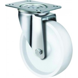 Stainless Steel Nylon Castor Swivel 100mm 190kg TE22NNP100S
