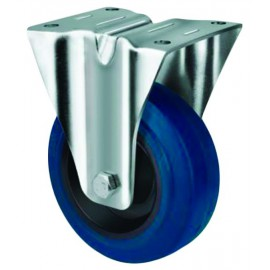 Medium Duty Blue Rubber Castor Rigid 125mm 180kg TE21ENR125R