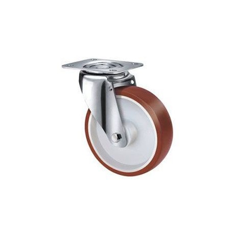 Stainless Steel Urethane Castors Swivel - 100MM 190kgs TE22UNI100S