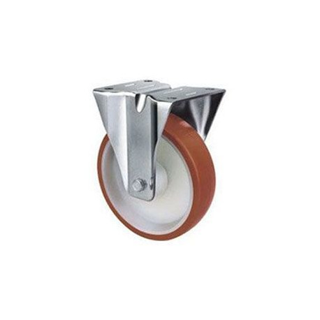 Stainless Steel Urethane Castors Fixed - 100MM 190kgs TE22UNI100R