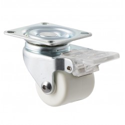Fallshaw NNN Series White Nylon Castor Swivel with Brake 40mm 90kg NNN40/NZPBR
