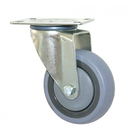 Fallshaw STQ Series Swivel Rubber Castor 75mm 100kg STQ75G/MZP